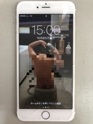 iPhone6Plusガラス割れ修理 & バッテリ交換