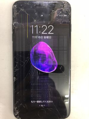 iPhone7Plusガラス液晶割れ from 大分市金池