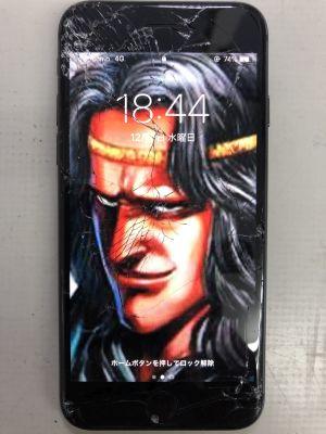 iPhone8ガラス細割れ from 大分市内