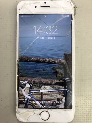 iPhone6ガラス割れ修理 from 豊後大野市三重