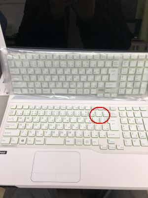 LIFEBOOK AH56/Jキーボード交換