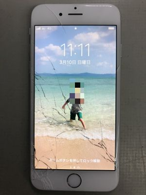 iPhone6ガラス割れ from 大分市顕徳町