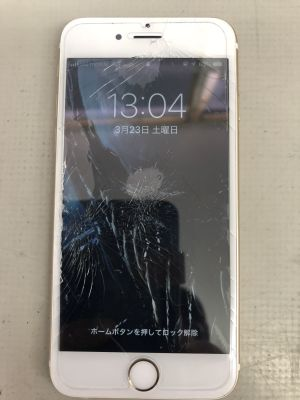 iPhone6Sガラス割れ修理 from 大分市内