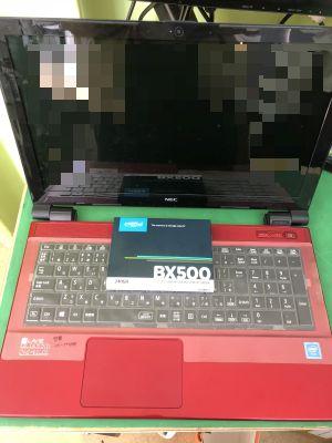 NEC PC-NS150G SSD換装 from 大分市内