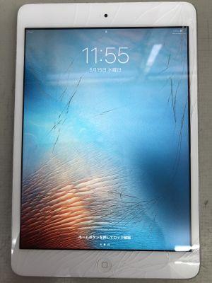 iPad mini2 ガラス割れ修理 ~大分市内