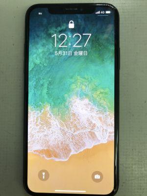 iPhone Xガラス割れタッチ故障 ~大分市牧