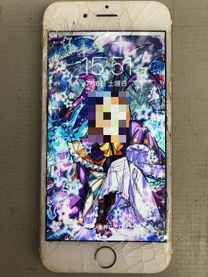 iPhone6ガラス割れ修理~豊後大野市三重