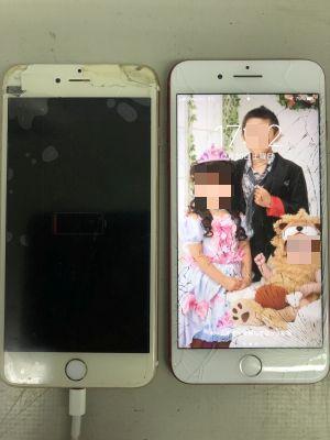 iPhone7Plus+6Plus割れ ~大分市希望が丘