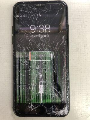 iPhone7ガラス液晶割れ修理 ~大分市古国府