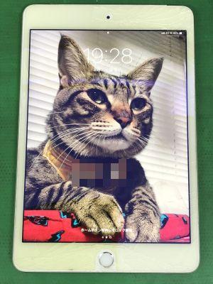 iPad mini4ガラス割れ修理 ~大分市森