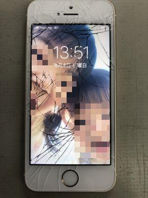 iPhoneSEガラス割れ修理 ~大分市坂ノ市