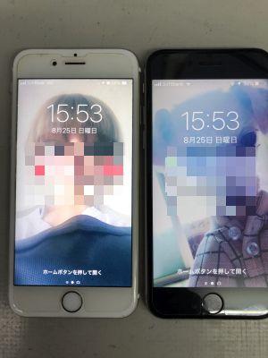 iPhone6Sバッテリー交換x2台 ~大分市三佐
