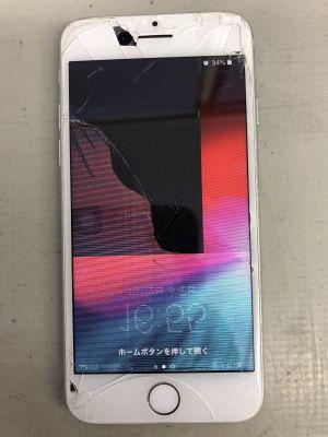 iPhone7液晶割れ ~大分市小池原