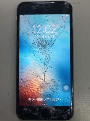 iPhone6Sガラス割れ修理 ~大分市常行
