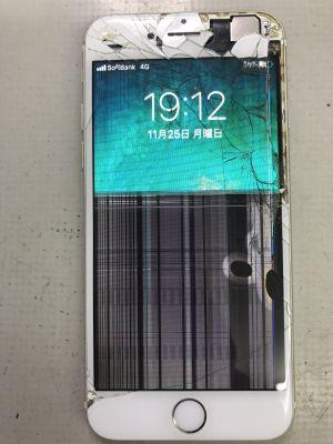 iPhone6液晶故障 ~大分市原新町