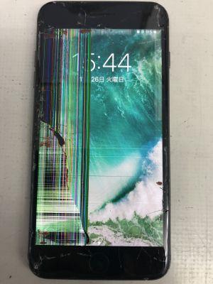 iPhone8Plusガラスメタ割れ ~杵築市