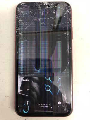 iPhoneXR液晶割れ ~大分市大在
