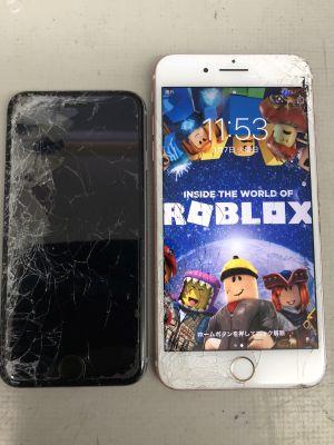 iPhone2台持込修理~大分市明野