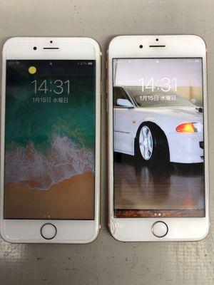 iPhone6s 2台電池交換~大分市政所