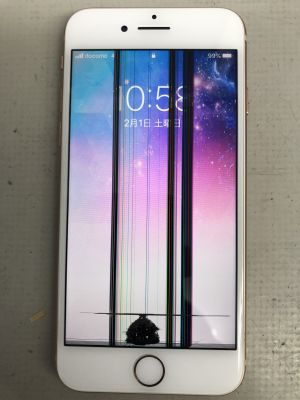iPhone8液晶割れ修理~大分市森