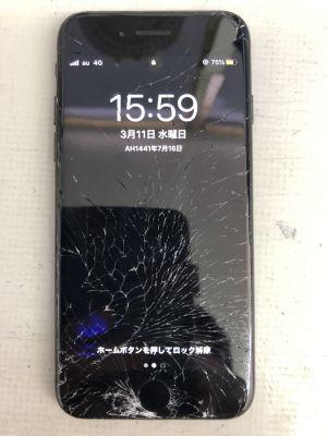 iPhone7ガラス割れ~大分市片島
