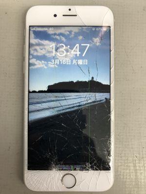 iPhone6Sガラス割れ修理~大分市けやき台