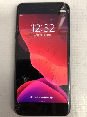 iPhone7+ガラス割れ ~大分市小池原