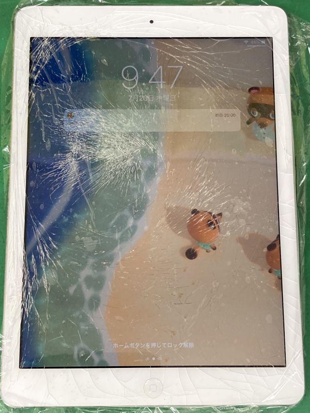 iPad Airガラス割れ~大分市森