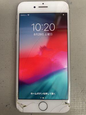 iPhone8画面穴割れ ~大分市王子
