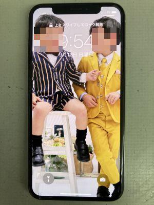 iPhoneX噛み割った! ~佐伯市