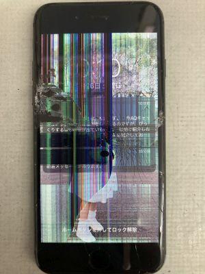 iPhone8液晶割れ ~大分市牧