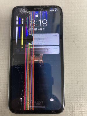 iPhoneXR画面割れ ~福岡市南区