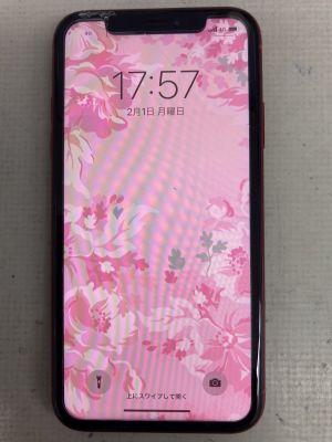 iPhoneXRガラス割れ ~大分市森