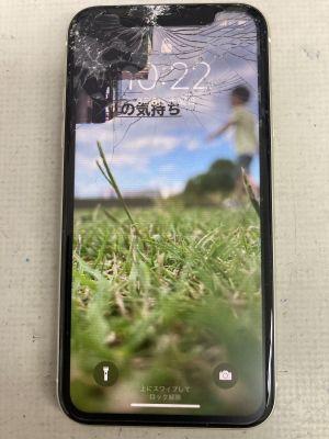 iPhone11液晶割れ ~大分市森町
