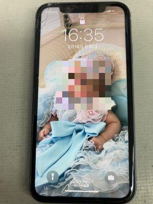 iPhone11画面割れ ~大分市永興