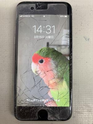 iPhone6画面メタ割れ ~大分市中戸次