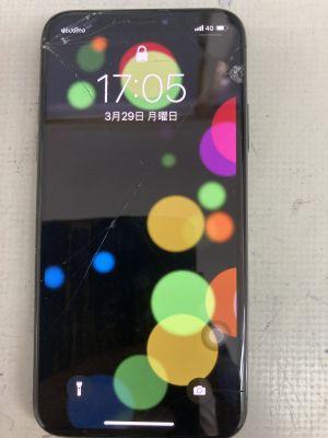 iPhone X ガラス割れ ~大分市今津留