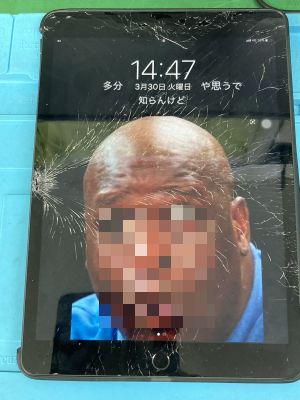 iPad 7th(A2198)ガラス割れ ~大分市高松