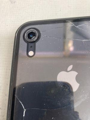 レンズカバー割れたiPhoneXR ~大分市一木