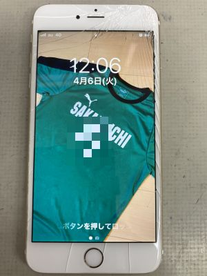 iPhone6sPlusガラス割れ ~大分市坂ノ市