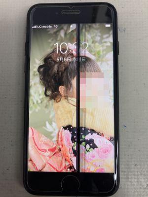 画面に縦線 iPhone7 ~大分市猪野