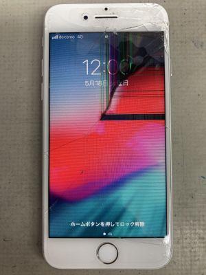 iPhone7画面レンズカバー修理 ~大分市牧