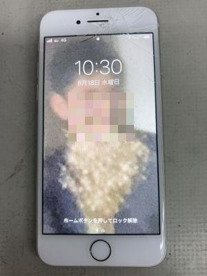 耳怪我するiPhone8 ~大分市向原