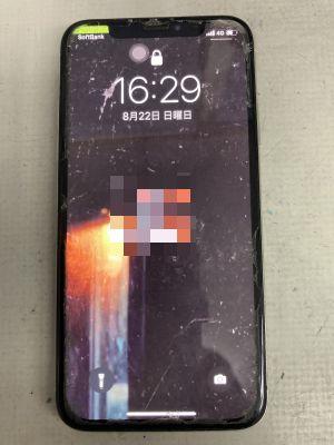 表示故障のiPhoneX ~大分市羽屋