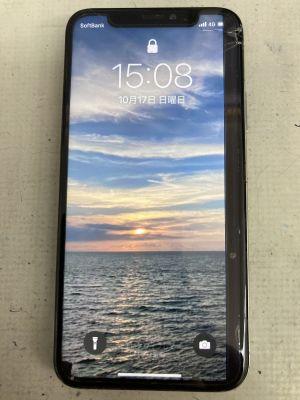 タッチ液晶故障のiPhoneX ~大分市牧